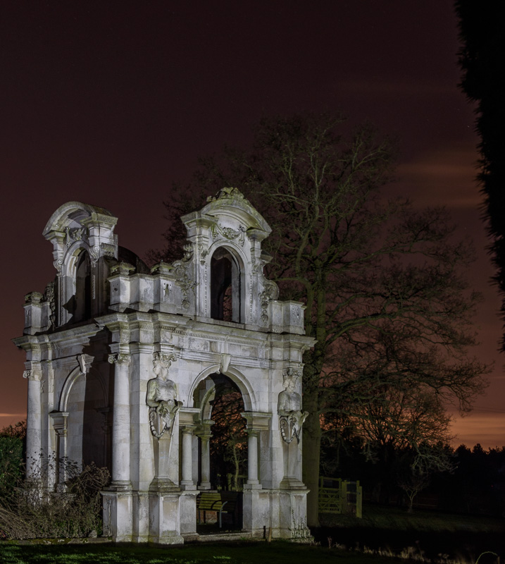 Picture of a stone folly in the grounds of Copped Hall near Epping