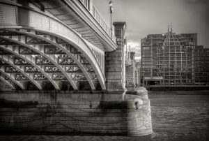 Alongside Southwark Bridge