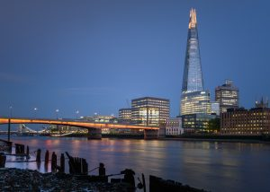 The Shard from under Cannon Street railway bridge