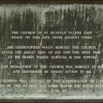 Plaque describing St Dunstan