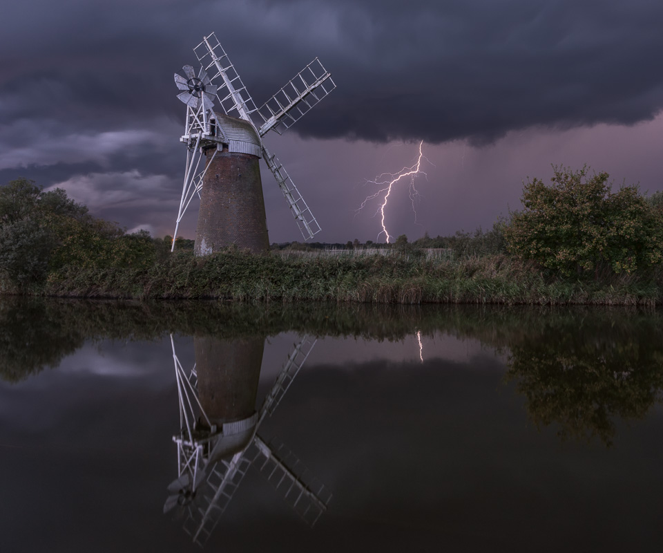 Turf Fen with lightning, the final image